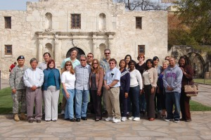 L.A. County educators, including LACOE staff, visit the Alamo in San Antonio during a break from duties assisting the Army at Fort Sam Houston.